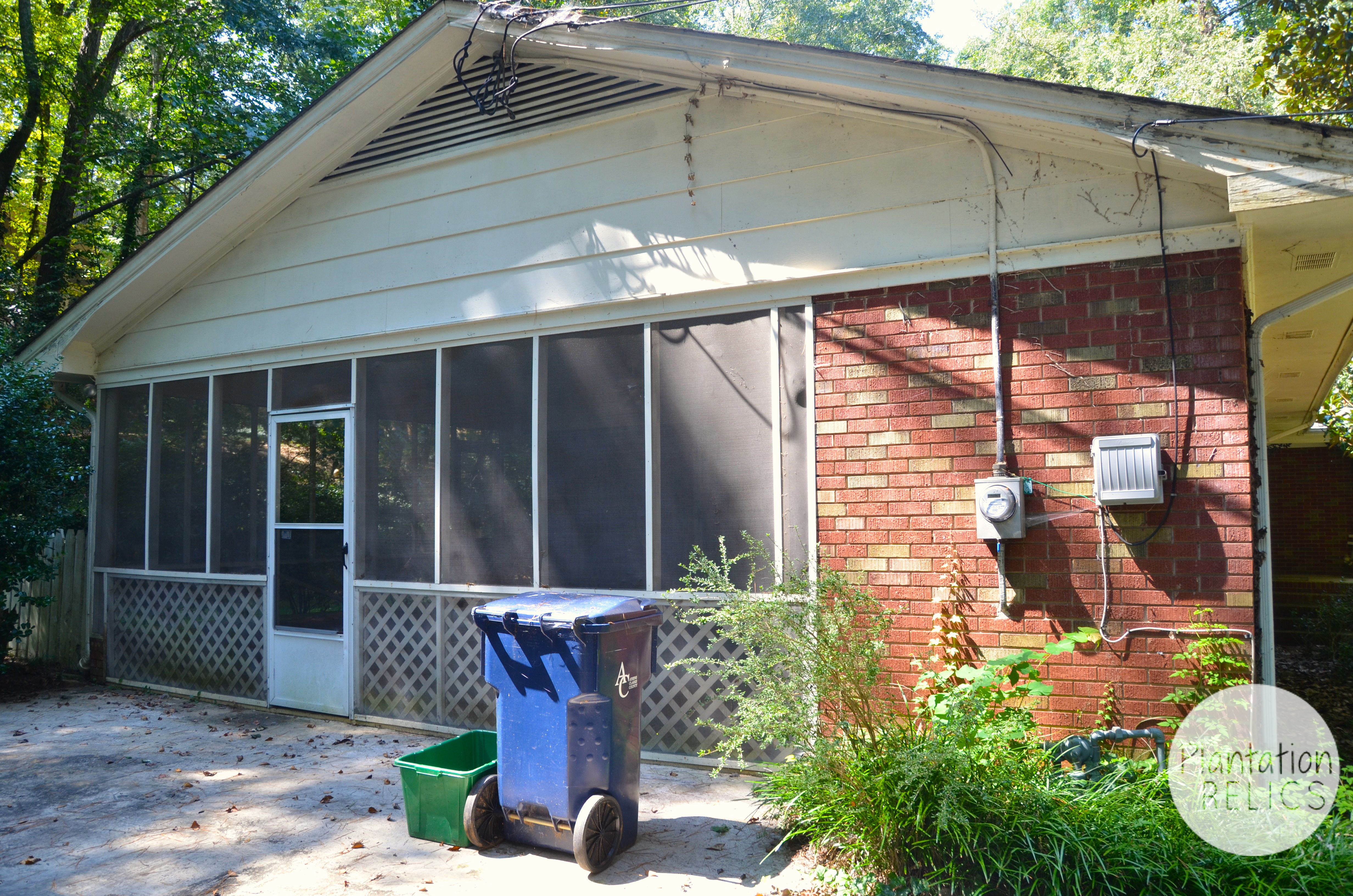 Closing in a carport to make guest suite - Carport Before From Side Flip