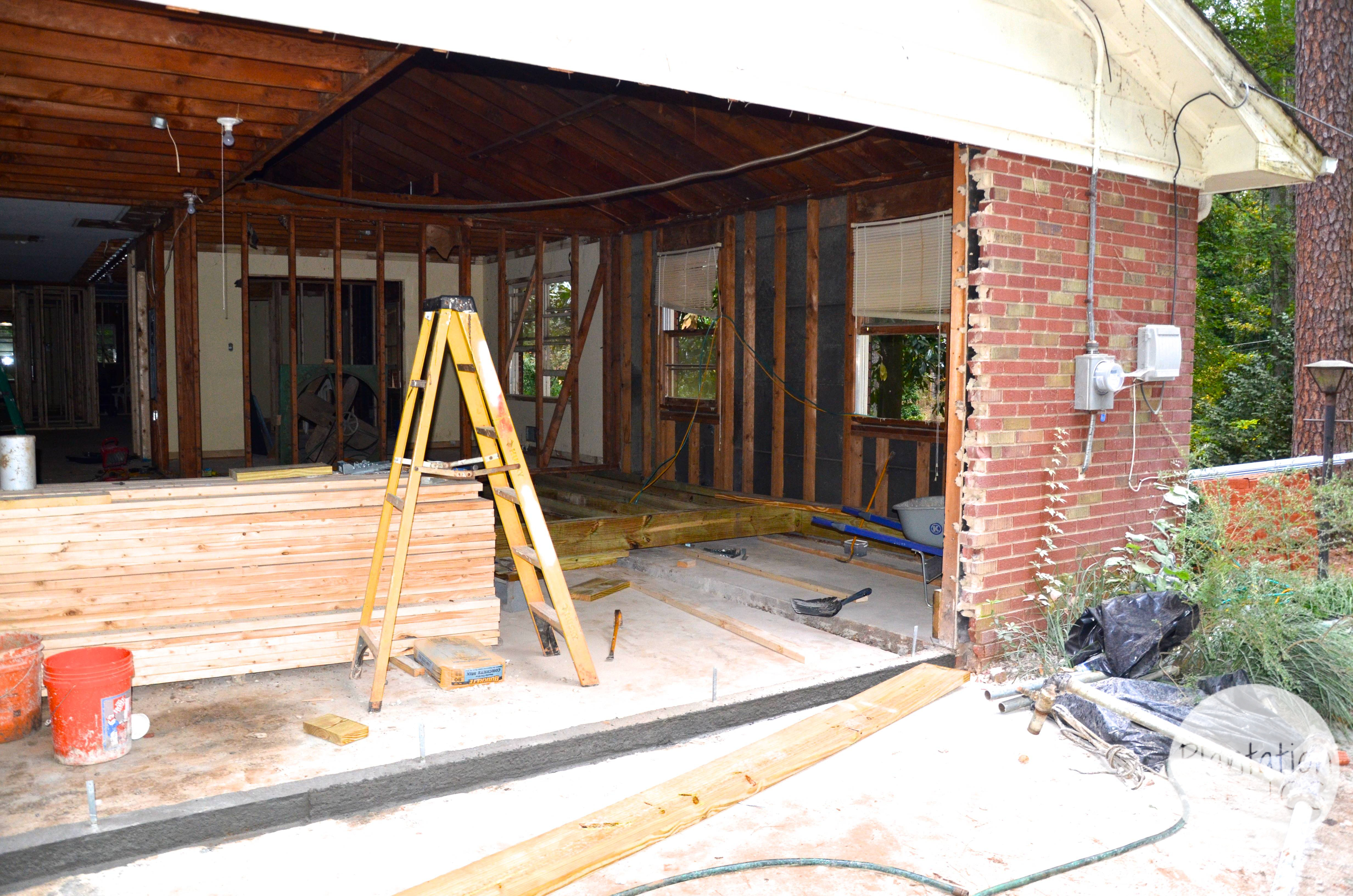 Closing in a carport to make guest suite - Closing In A Carport To Make Guest Suite 9