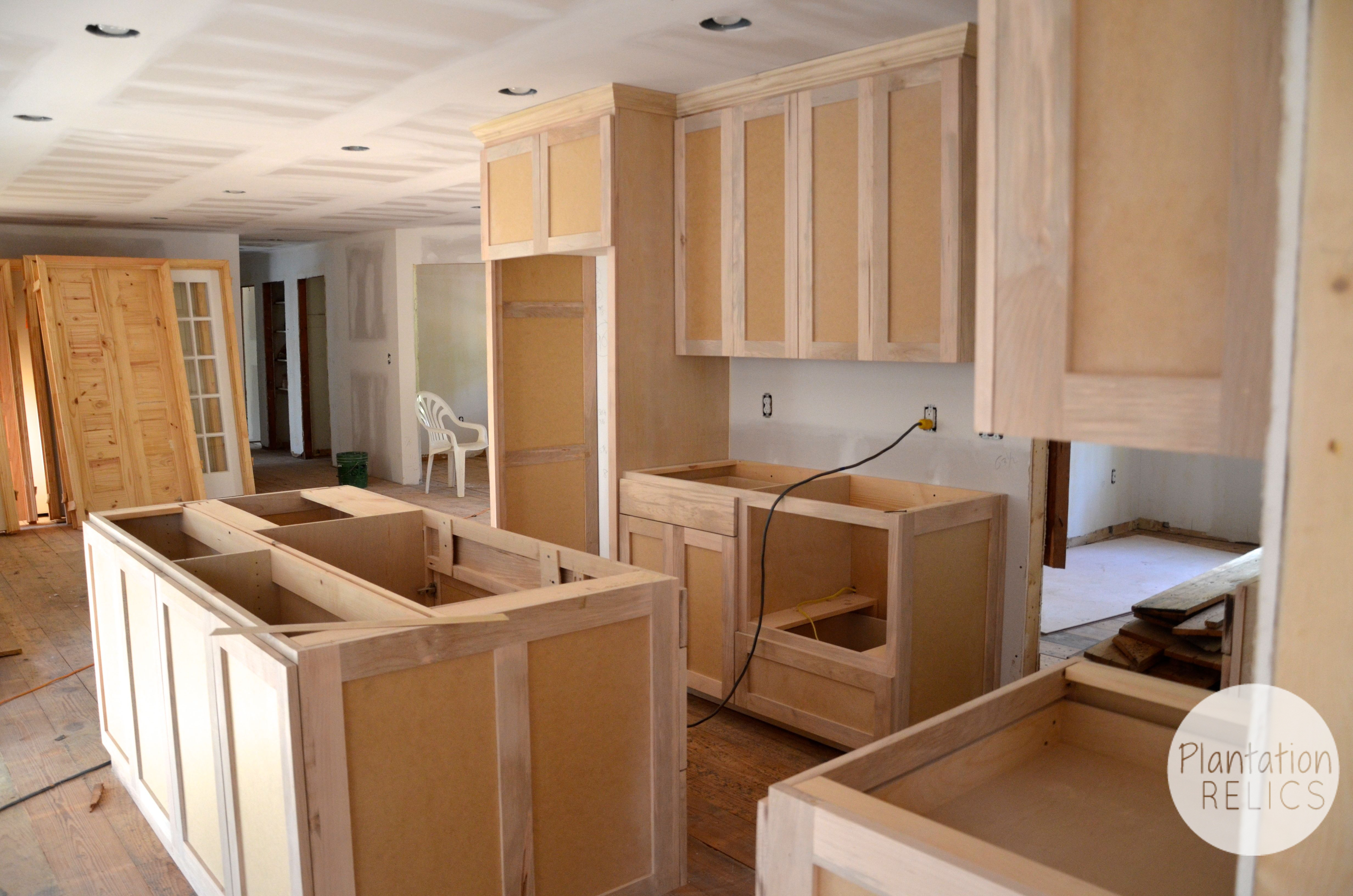 kitchen cabinets before paint from mudroom flip - Functional Kitchen Cabinets