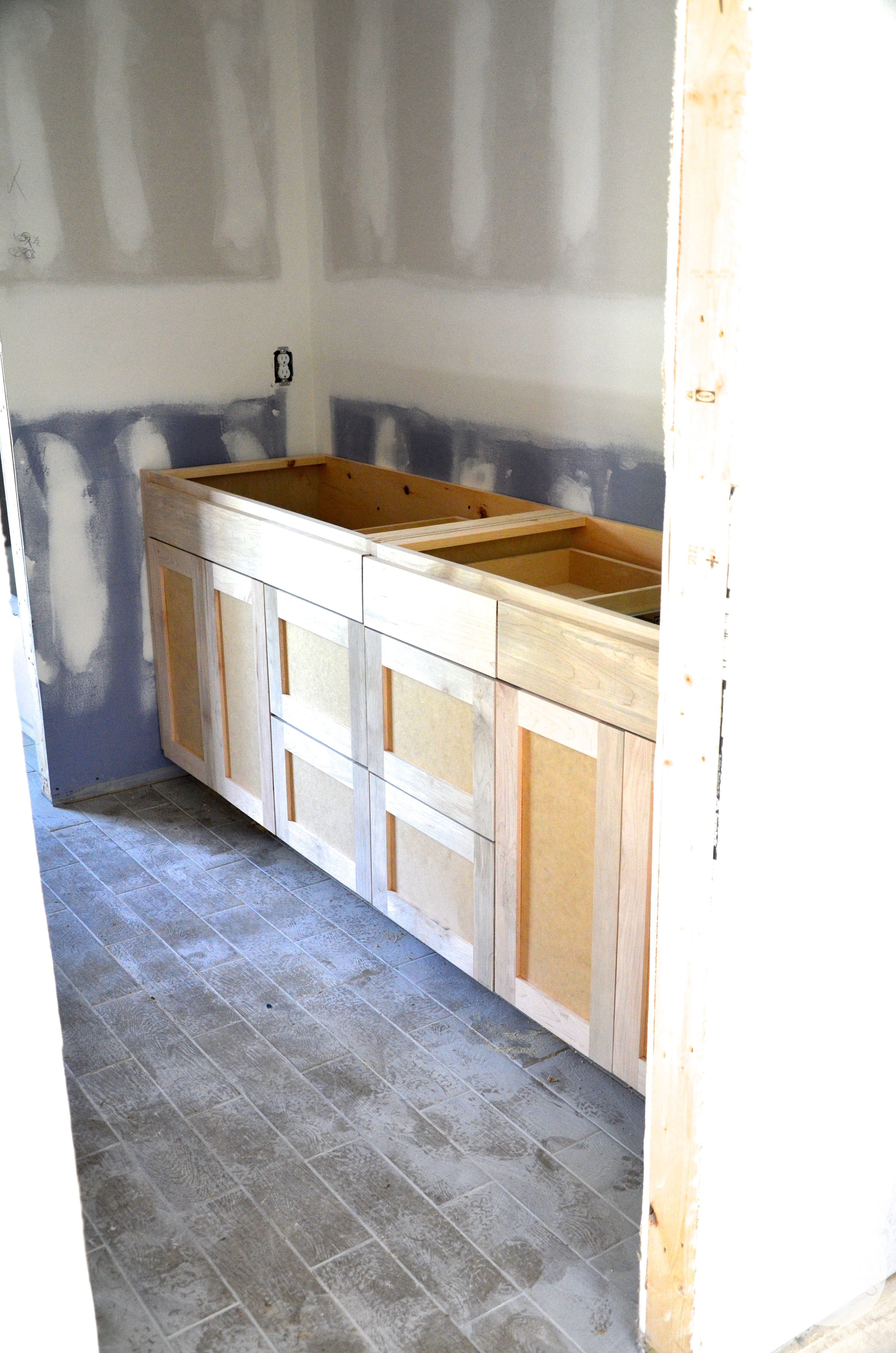 shared bath cabinets unfinished flip - Unfinished Bathroom Cabinets