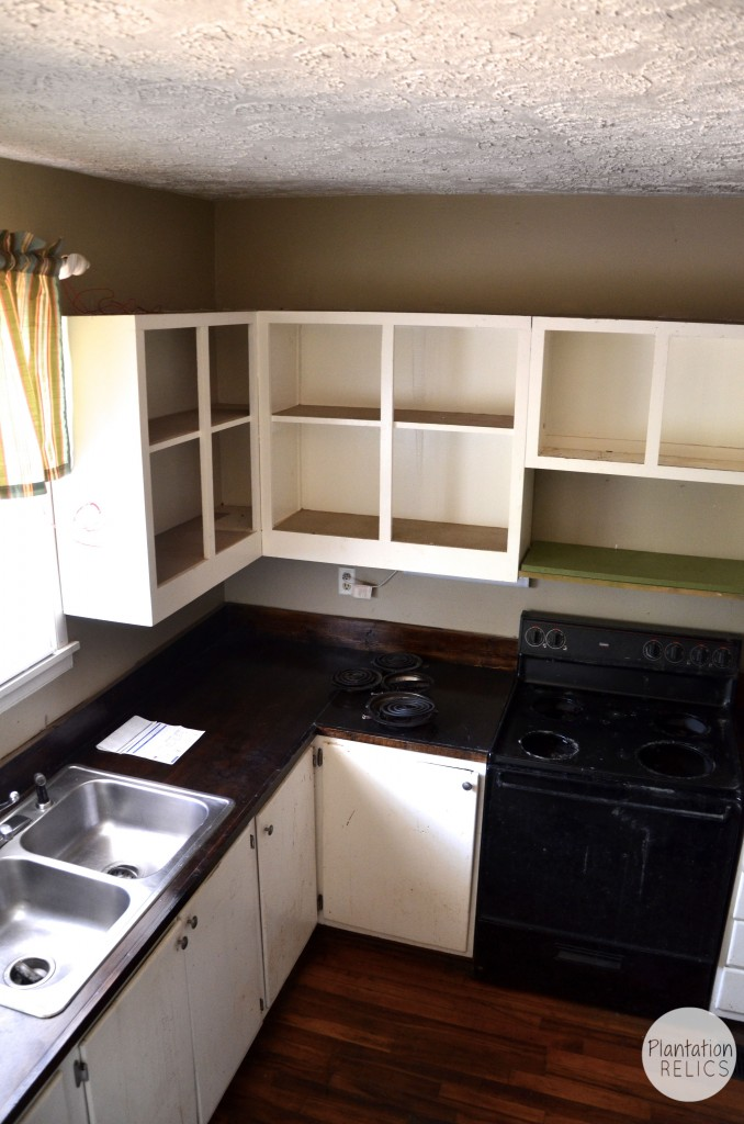 Kitchen Before from stairs toward sink flip