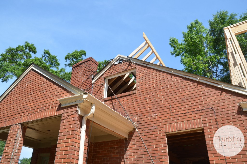 Exterior Roof Extension from ground through window flip