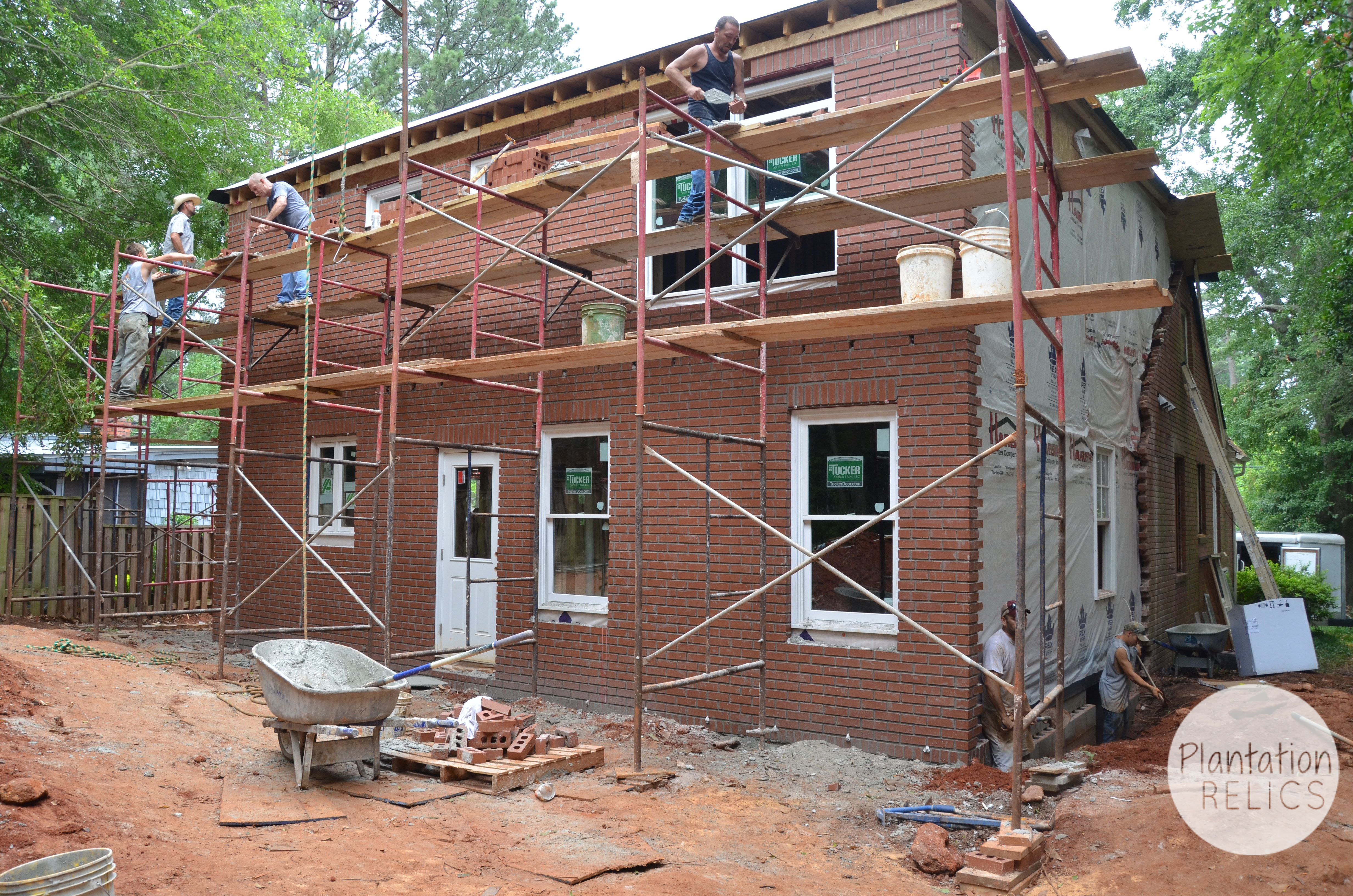 Brick Exterior: New Windows And Brick Of Flip House #2