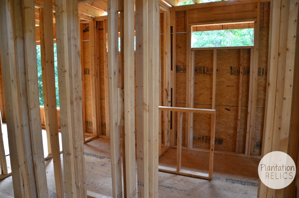 Upstairs Bath framing flip