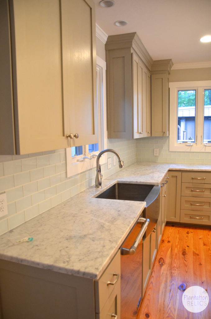 Kitchen After back countertop flip