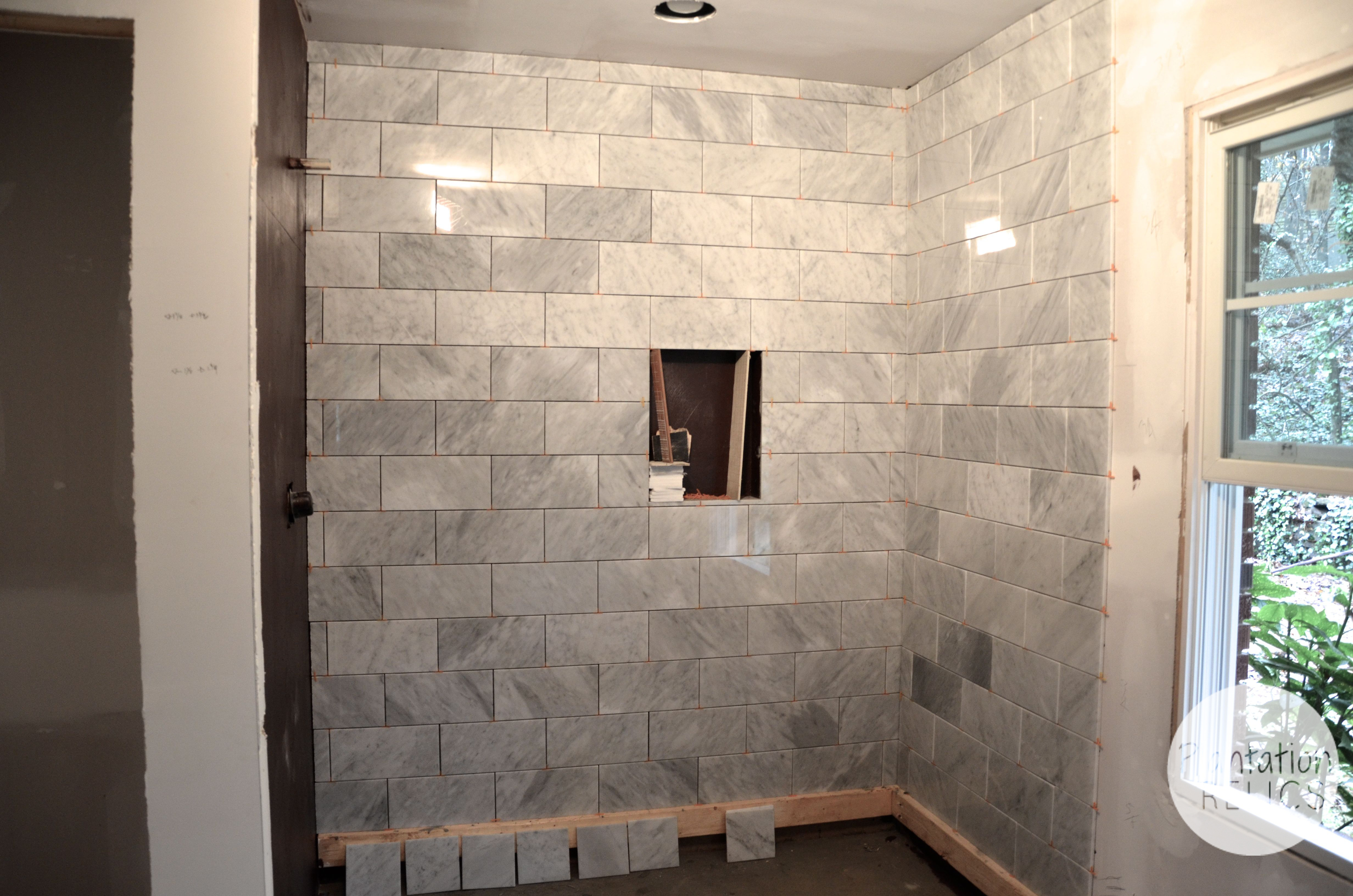 polished marble tiles bathroom carrara marble master bath flip house update 20018