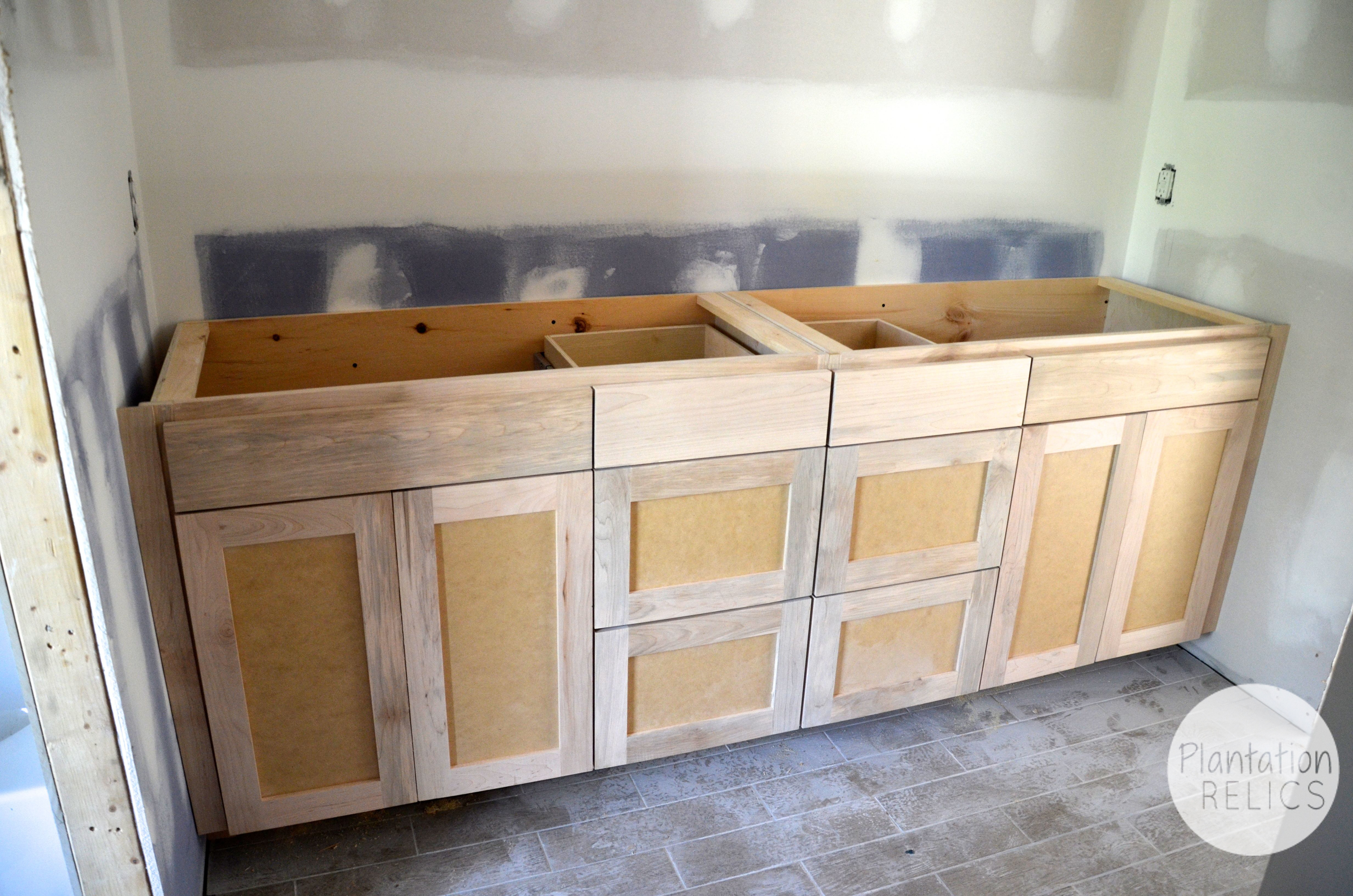unfinished shaker style kitchen cabinets master and shared bathroom custom cabinets flip 1 27676